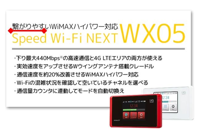 WiMAX繋がりやすいGMO