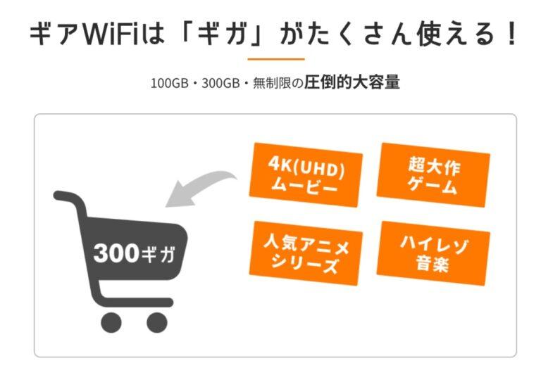 ギアWi-Fi300GB